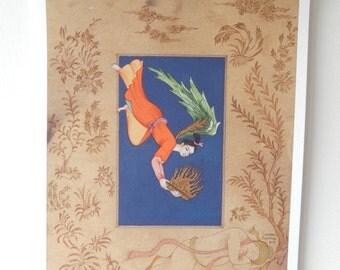 Original persian painting/Persian miniature Saadi's Gift- art print