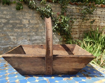 Antique French Handmade Garden Trug