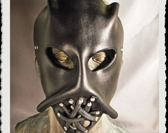 Black leather mask - Jason Family (the brother) -
