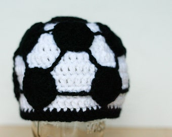 Newborn Soccer Hat, soccer gift, baby soccer outfit, photo prop, Newborn to 12 month sizes available