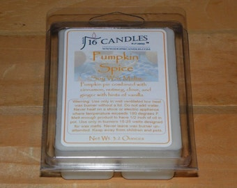 Pumpkin Spice Scented Wax Melts ~ 6 Cavity Clam Shell ~ Perfect Pumpkin Pie Fragrance ~ Scented Wax Melts ~ 2.75 Ounces