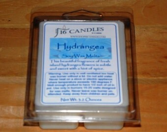 Hydrangea Soy Wax Melts ~ Floral Scent ~ Fragrant Wax Melts ~ 6 Cavity Clamshell ~ 2.75 Ounces