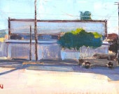 Streetscape- Original Tijuana, Mexico Oil Painting
