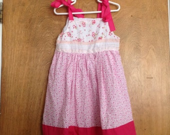 Girls Boutique Dress SAMPLE SALE Pink flowers size 5
