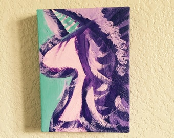 Unicorn Abstract Original Acrylic Painting