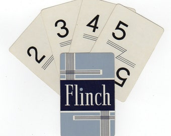 15 Flinch Playing Cards set of numbers 1 thru 15