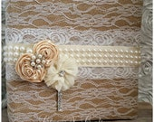 Burlap and Lace Rustic Shabby Album
