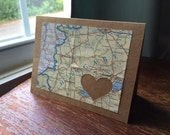 I Love Hungary - 1 blank handmade greeting card