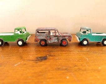 Toy Story... Vintage Metal Toy Truck Set