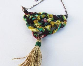 tassel necklace/ long necklace/ sailors knot