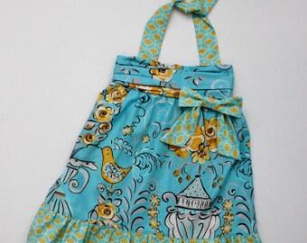 Tea Garden Halter Dress - Ready to Ship - RTS
