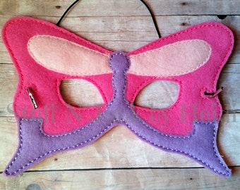 Butterfly children's mask, wonderland, flutterby