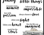 Speak It Word Art #13 - Digital Art Supplies By Angie Young