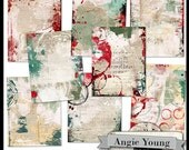 Journal It Papers Set #17 - Digital Art Supplies By Angie Young