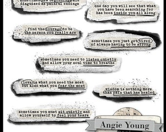 Speak It Word Art #16 - Digital Art Supplies By Angie Young