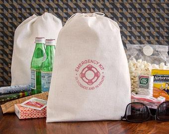 Nautical Hangover Kit Bags - Nautical Bachelorette Party Favor - Nautical Wedding - Beach Hangover Kits - Destination Wedding Hangover Kit