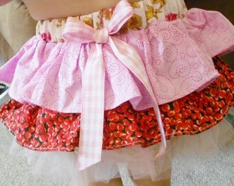 little girls ruffled diaper cover with elastic crochet top - 18-24 mos