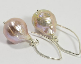 Kasumi Like Pearl Earrings  Genuine Pearl Earrings Gold Pearls Earrings Bridesmaid Gift Birthstone Jewelry