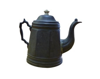 Antique Soldered Tin Coffee Pot Circa mid 19th Century
