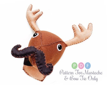 Plush animal head sewing patterns diy faux by aicreatures on etsy - Fake stuffed moose head ...