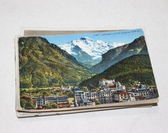 SALE - 46 Vintage Switzerland Postcards - DAMAGED