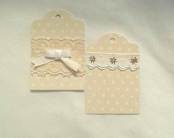 Vintage Lace Gift Tag Set of 4