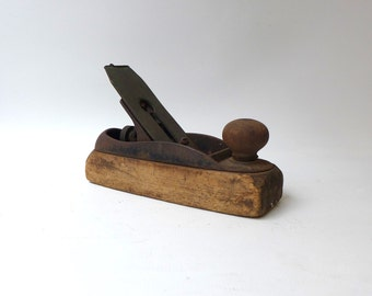 Antique 1800s Bailey small wood plane, antique wood tool, hand plane