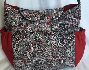 Paisley pattern Baby Diaper Bag Messenger Purse