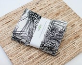 Custom Listing for Kiley - Large Cloth Napkins - 5 Sets of 4 - (N3222) - Black and White Pine Pinecones Modern Reusable Fabric Napkins