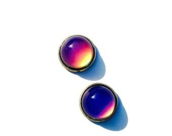Mood Earrings, Color Changing Earrings, Silver Mood Earrings