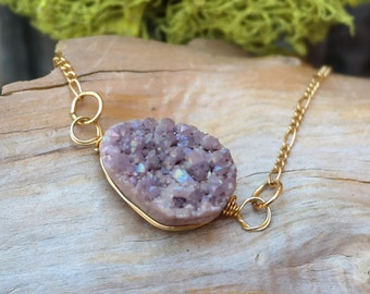 One of a Kind -Raw Amethyst Necklace