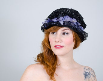 1910s vintage hat / antique cloche / Fleurette