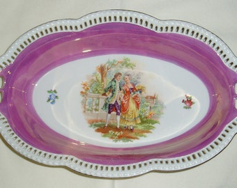 Schumann Reticulated Pierced Serving Bowl, Victorian Couple