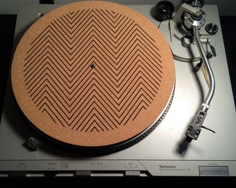 Handcrafted Natural Cork Turntable, Record Players, Slip Mats, Vinyl Collector