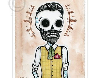 "Dead Hipster ""Chris"" 8x10 ART PRINT"