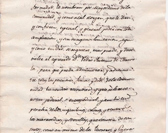 SALE - reduced from 39USD - Antique Spanish Document from 1816