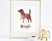 Printable Dapper Paws Collection - The Beagle Wall Art - INSTANT DOWNLOAD PRINTABLE