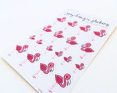 Cute stickers - FUCSHIA FLAMINGOS, perfect for your planner