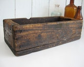 Vintage Wood Box Crate Long Narrow Rectangular Storage Rustic Primitive Display Fairy Garden Planter Home Decor