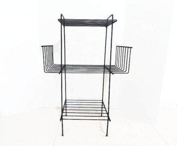 Atomic Black Formed Metal Table / Rack