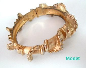 Brutalist Clamper Bracelet Mid Century Monet