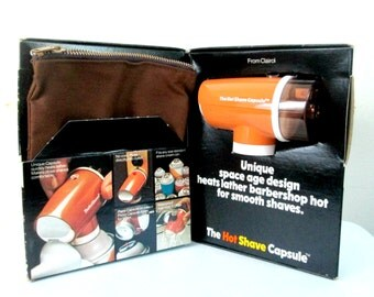 Hot Shave Capsule 1970s Clairol Barbershop Hot Shave In Original Box