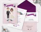 Custom Illustration  - Wedding Invitation Set
