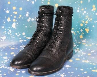 JUSTIN Men's Lacer Boot Size 10 D