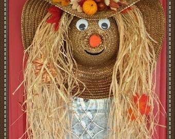 Autumn Harvest Scarecrow Hat Fall Decor