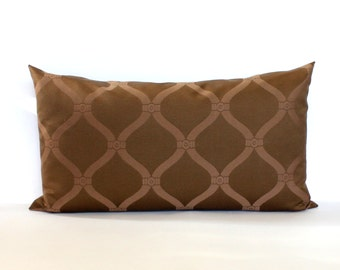 Lumbar Pillow Cover Brown Pillow Tone on Tone Upholstery Fabric Decorative Pillow Oblong Throw Pillow Cover 12x24 12x21 12x18 12x16 10x20