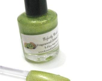 Perfectly Peridot (August's Birthstone) Island Kiwi Fragranced Nail Polish, Peridot, August, Birthstone, kiwi, fragranced nail polish