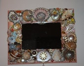 "Seashell Jewelry Picture Frame Peach ""Georgia"""