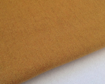 Wool Fabric for Rug Hooking and Applique, Fat Quarter Yard, Mustard Fields, J960