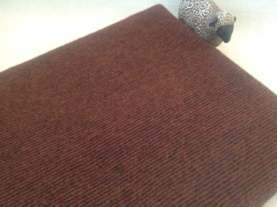 Wool Fabric for Rug Hooking and Applique, Fat Quarter Yard, Reversible Brown and Black Stripe, J954